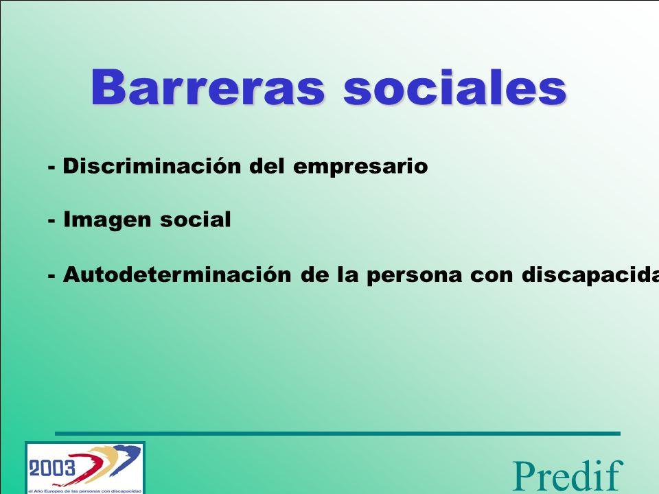 Barreras sociales - Discriminación del empresario Imagen social