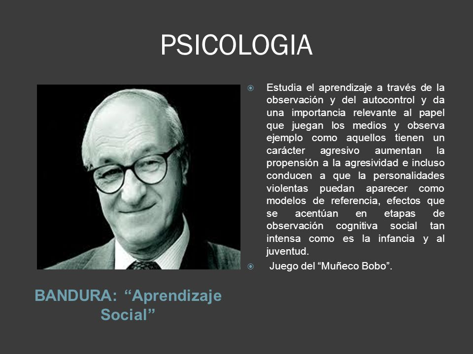 BANDURA: Aprendizaje Social