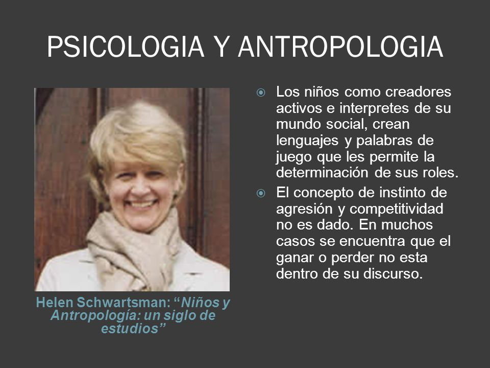 PSICOLOGIA Y ANTROPOLOGIA