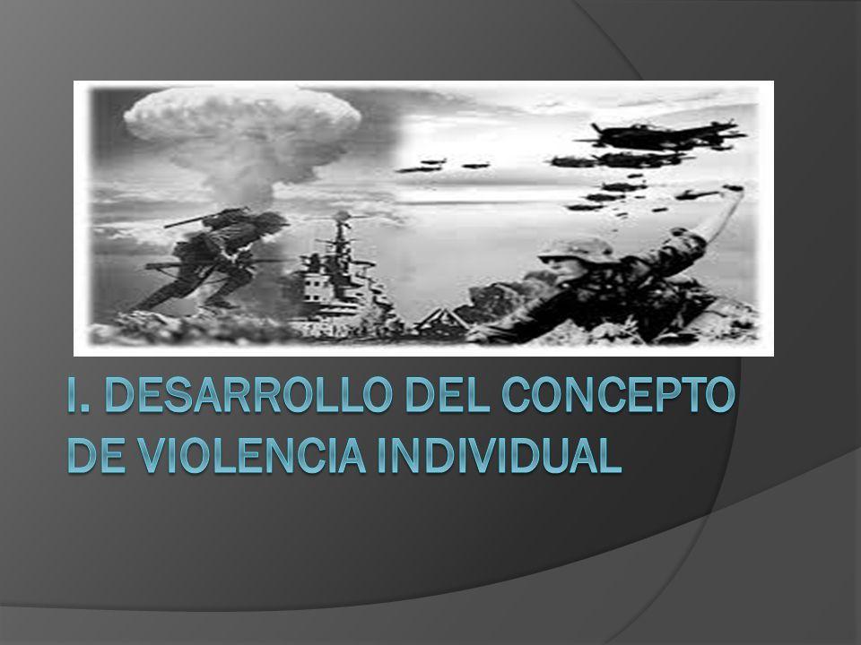 I. DESARROLLO DEL CONCEPTO DE VIOLENCIA INDIVIDUAL