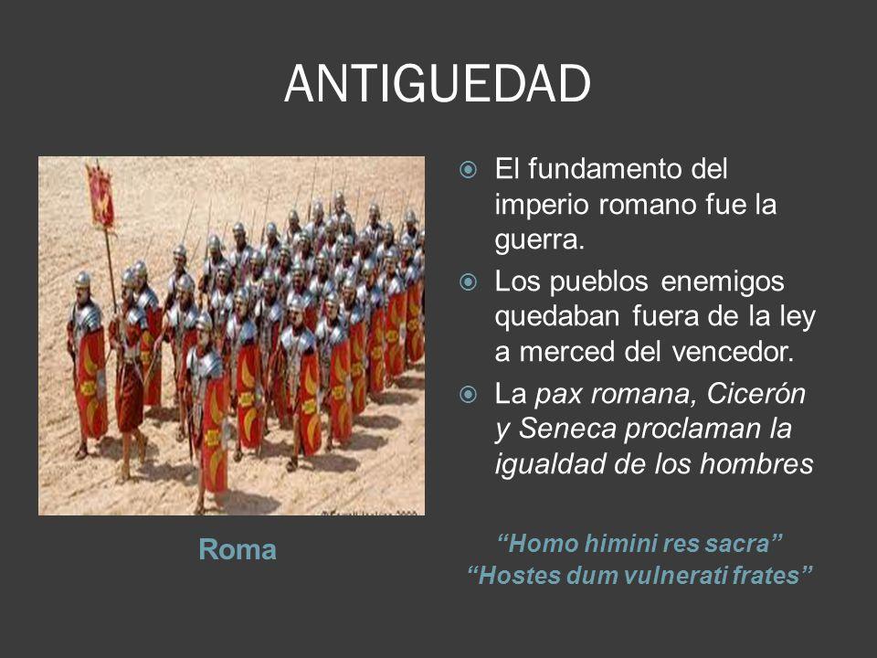 Homo himini res sacra Hostes dum vulnerati frates