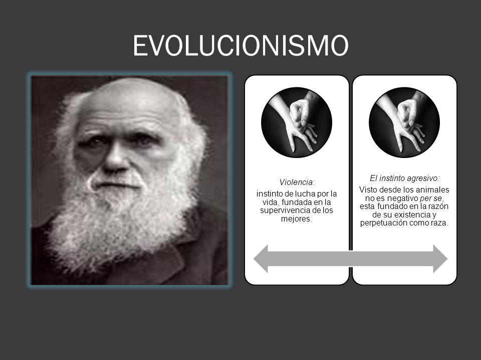 EVOLUCIONISMO El instinto agresivo: Violencia: