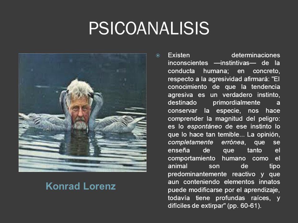 PSICOANALISIS Konrad Lorenz