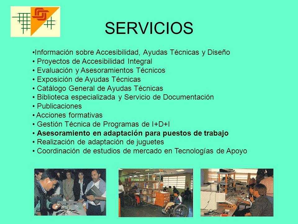 SERVICIOS Información sobre Accesibilidad, Ayudas Técnicas y Diseño