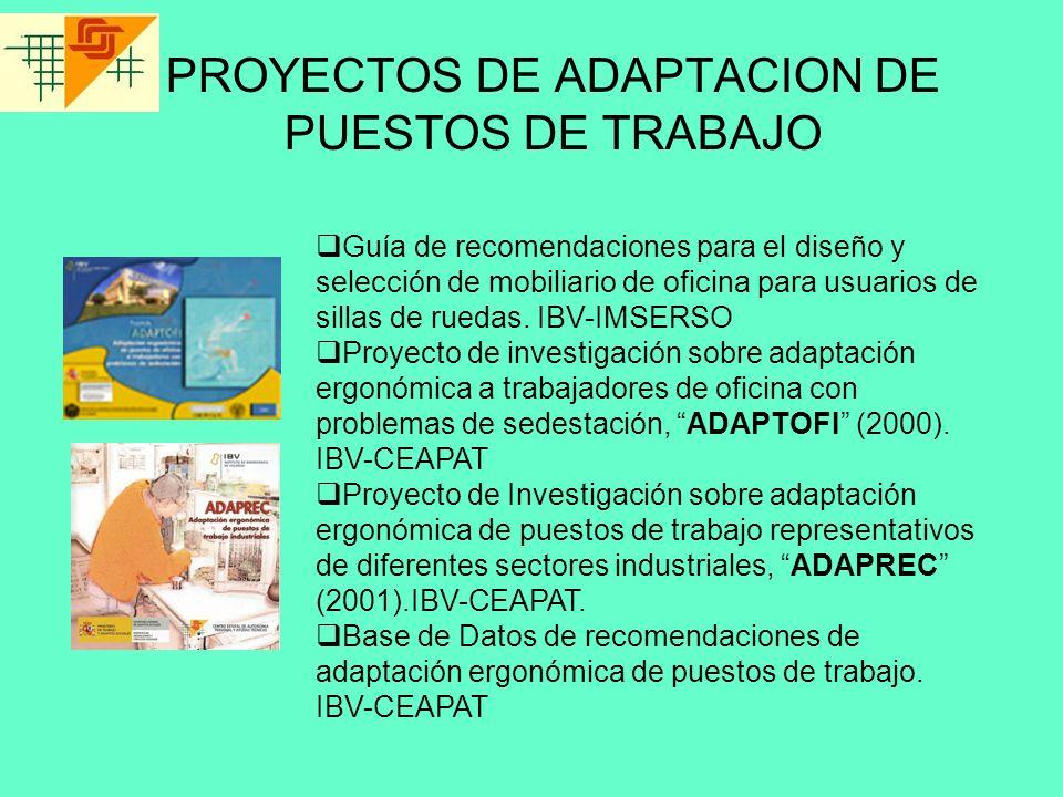 PROYECTOS DE ADAPTACION DE PUESTOS DE TRABAJO