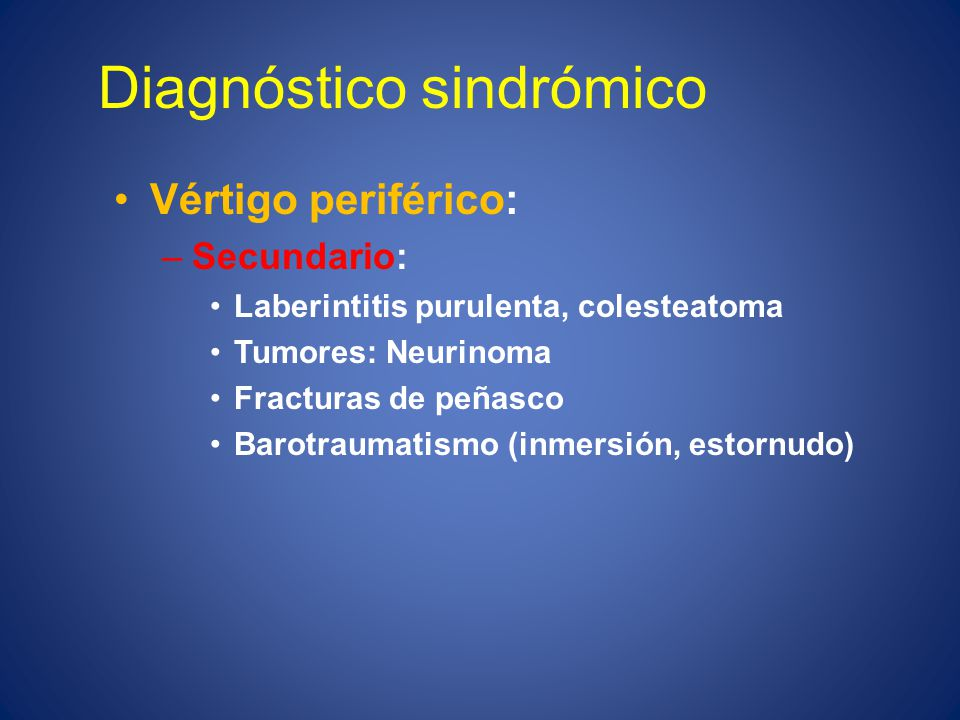 Diagnóstico sindrómico