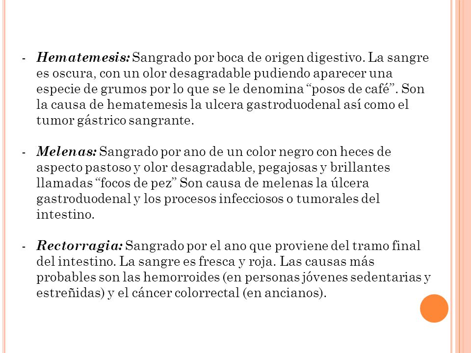 Hematemesis: Sangrado por boca de origen digestivo