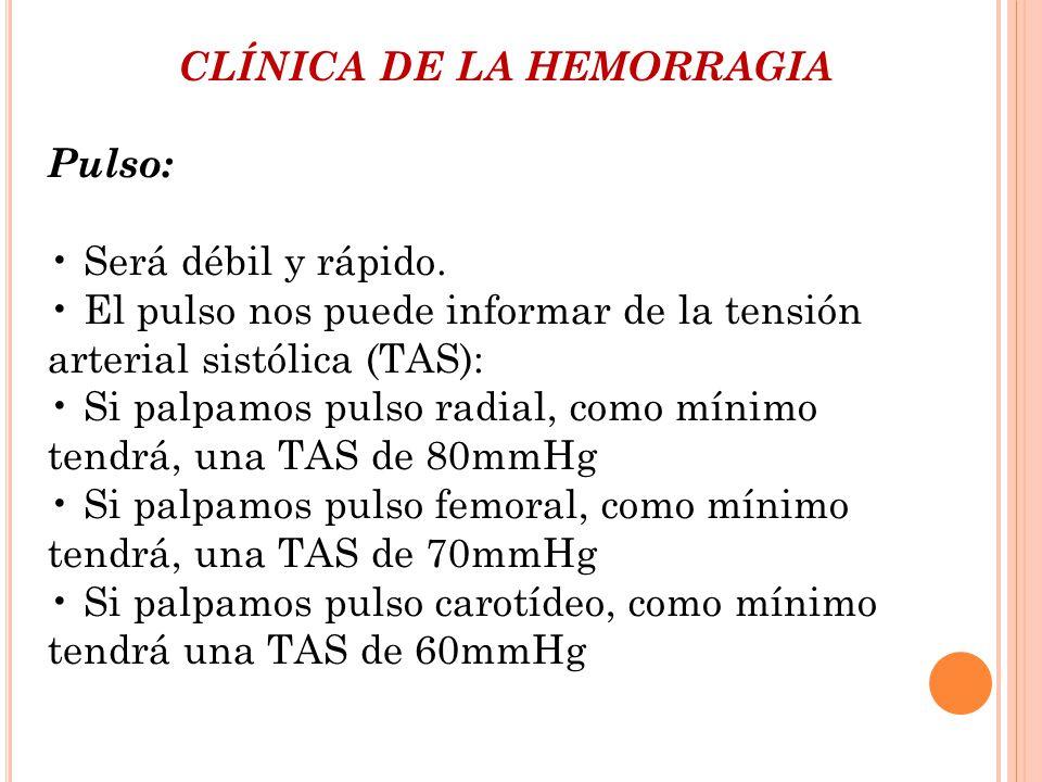 CLÍNICA DE LA HEMORRAGIA
