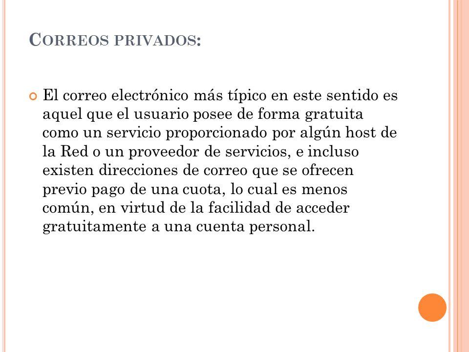 Correos privados: