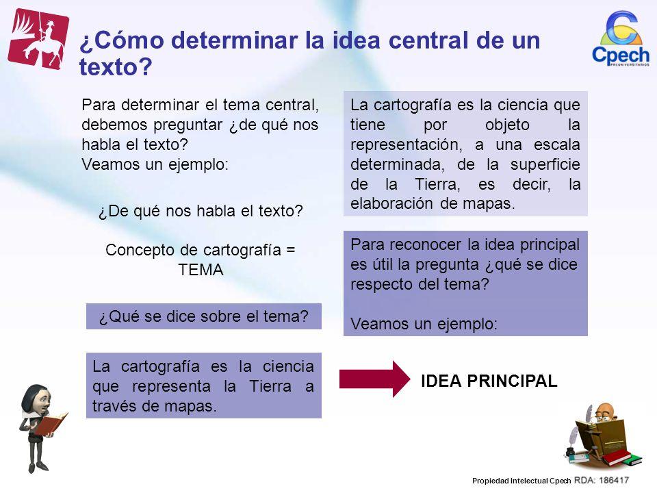 ¿Cómo determinar la idea central de un texto