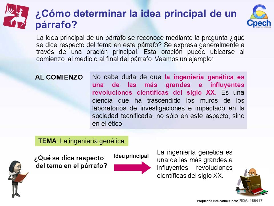 ¿Cómo determinar la idea principal de un párrafo