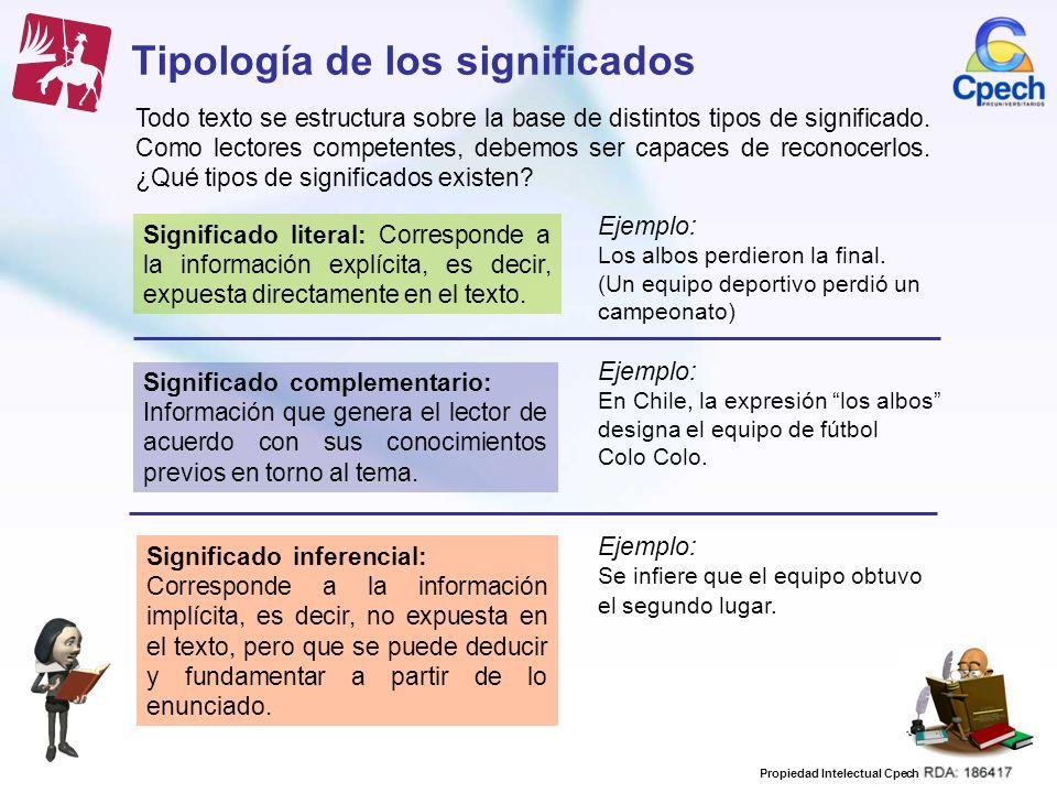 Tipología de los significados