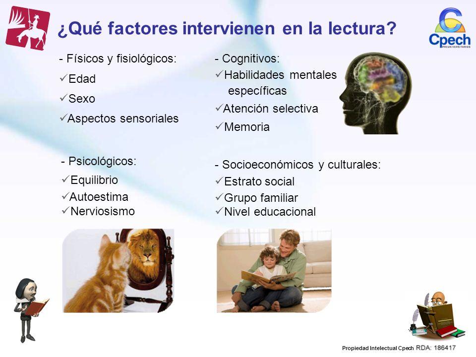 ¿Qué factores intervienen en la lectura