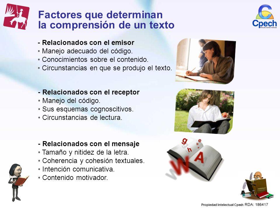 Factores que determinan la comprensión de un texto