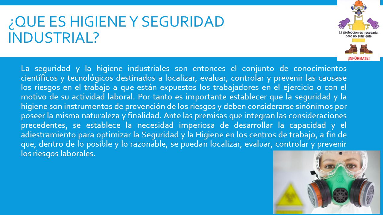 ¿Que es Higiene y seguridad industrial