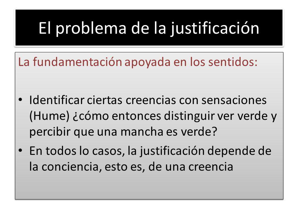El problema de la justificación