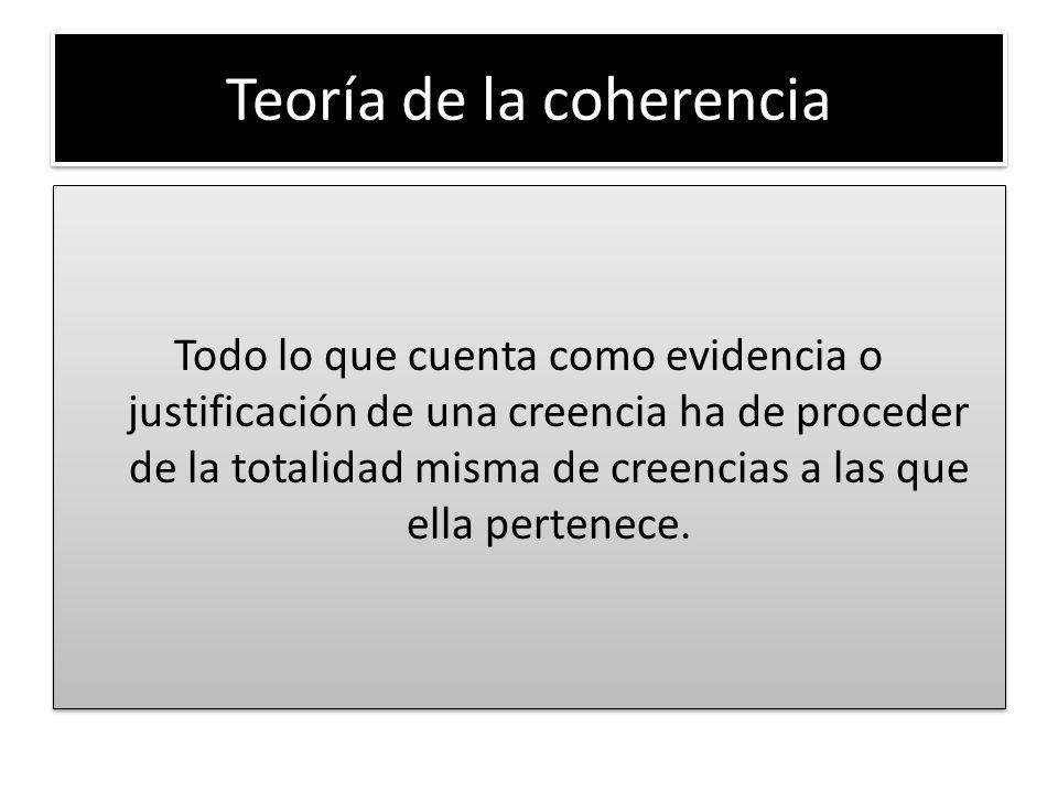 Teoría de la coherencia
