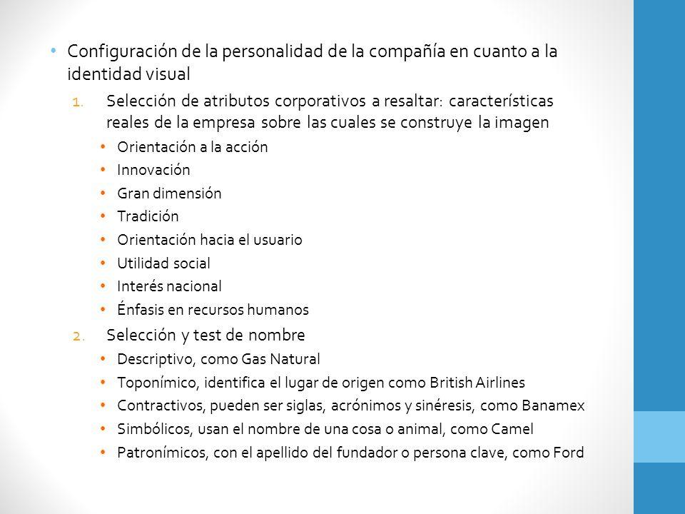 Configuración de la personalidad de la compañía en cuanto a la identidad visual