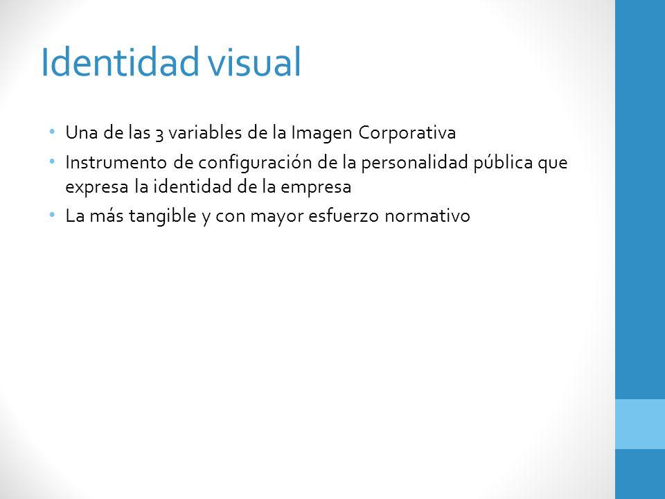Identidad visual Una de las 3 variables de la Imagen Corporativa