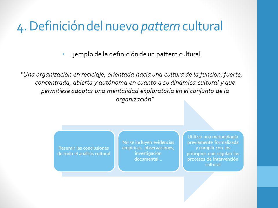 4. Definición del nuevo pattern cultural