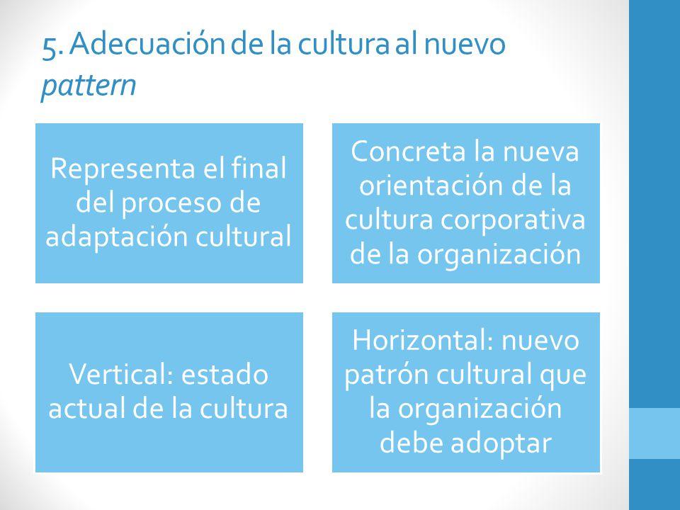 5. Adecuación de la cultura al nuevo pattern
