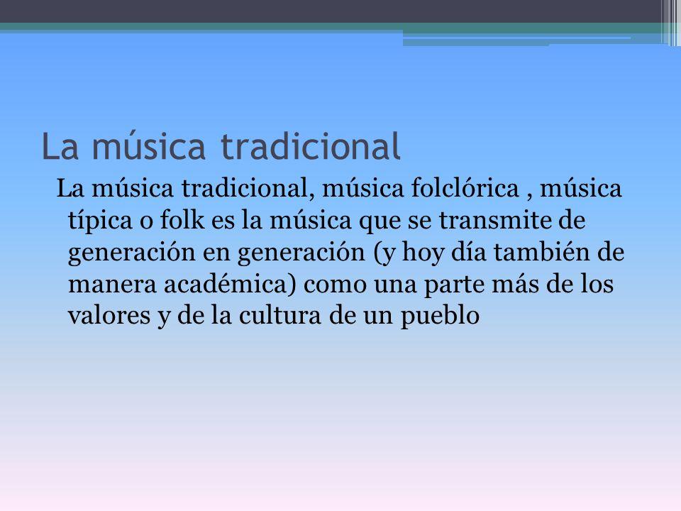 La música tradicional