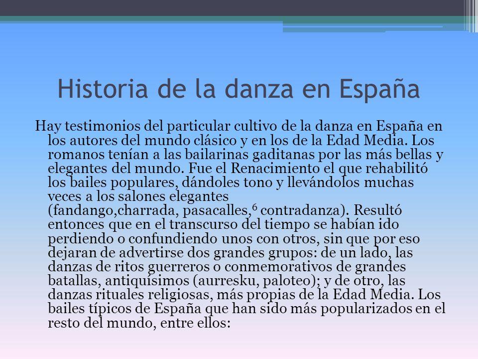 Historia de la danza en España