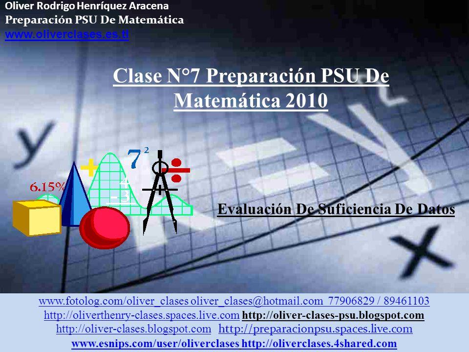 Clase N°7 Preparación PSU De Matemática 2010