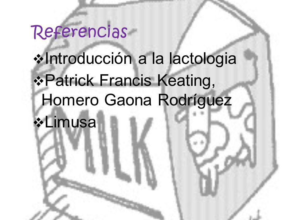 Referencias Introducción a la lactologia Patrick Francis Keating, Homero Gaona Rodríguez Limusa