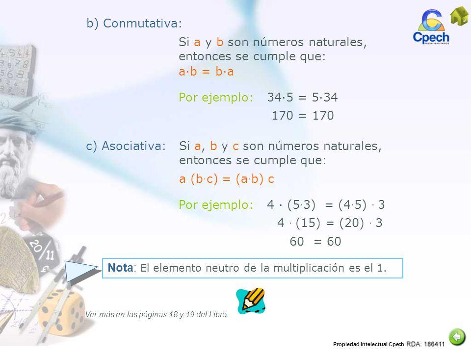 Si a y b son números naturales, entonces se cumple que:
