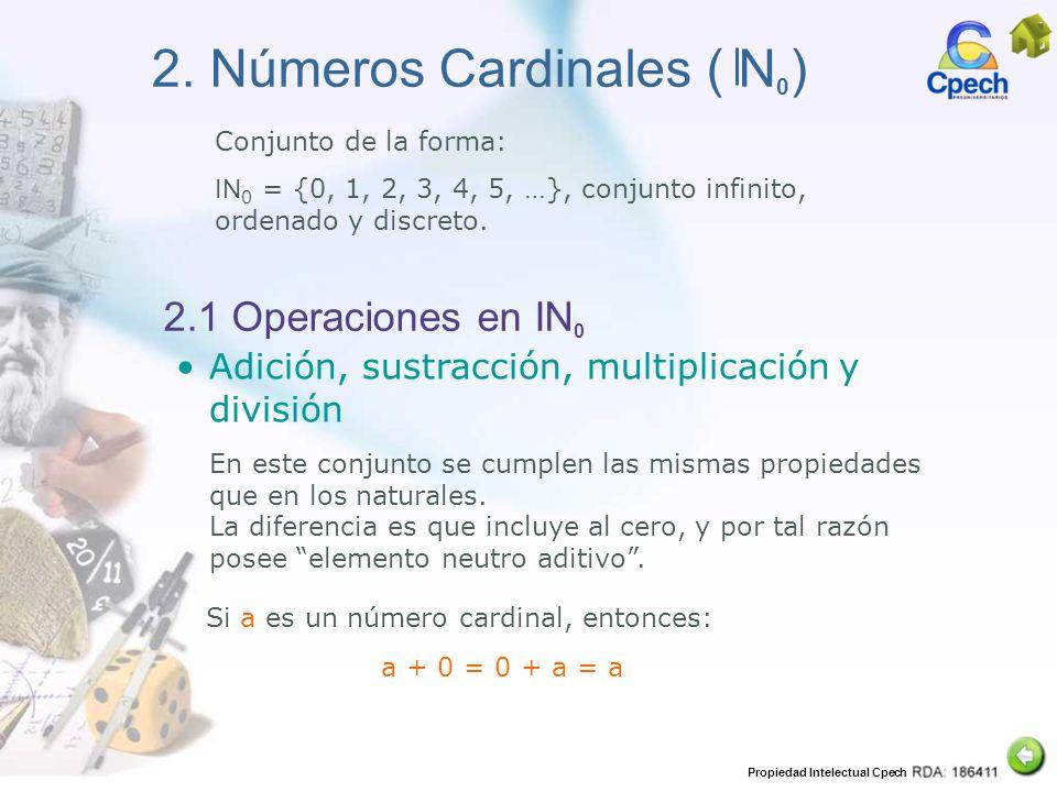 2. Números Cardinales ( N0)