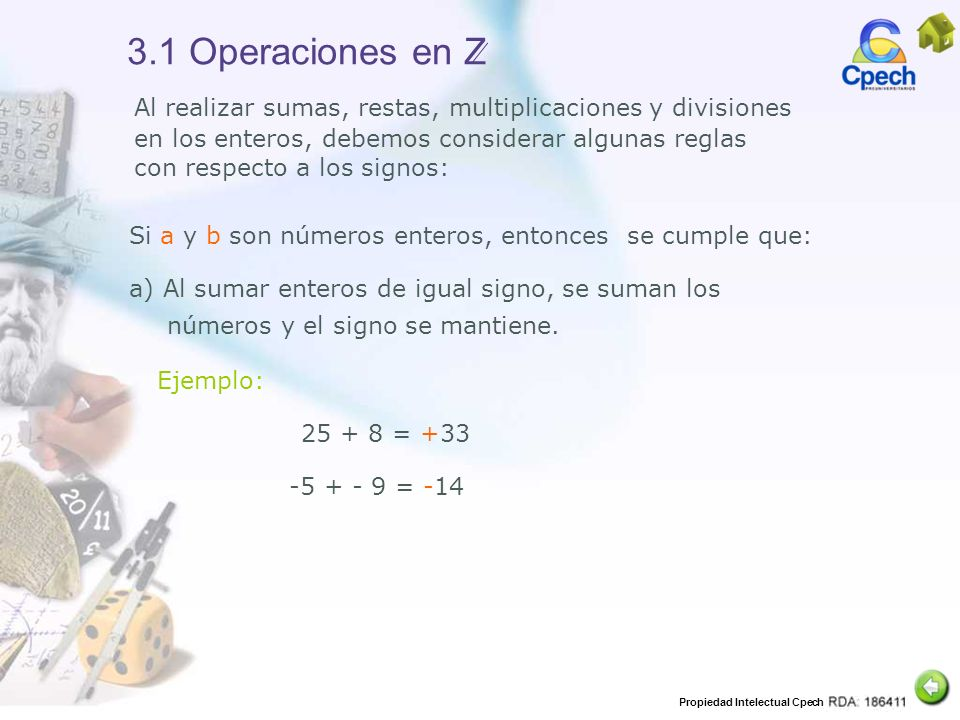 3.1 Operaciones en Z