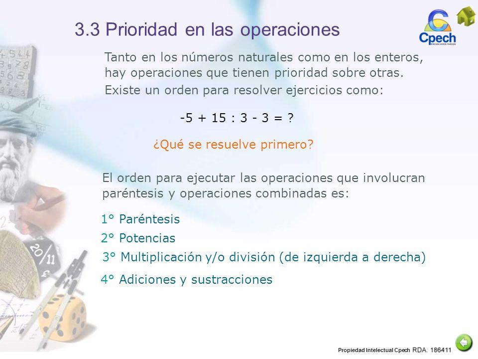 3.3 Prioridad en las operaciones