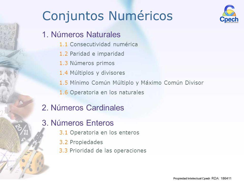 Conjuntos Numéricos Números Naturales 2. Números Cardinales