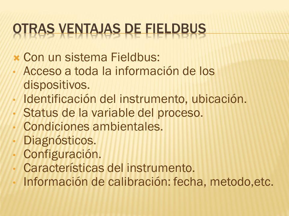 Otras ventajas de fieldbus