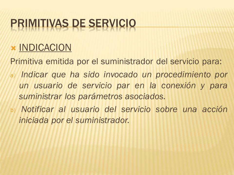 Primitivas de servicio