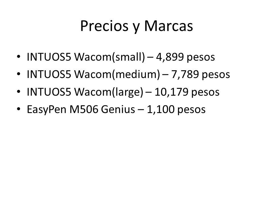 Precios y Marcas INTUOS5 Wacom(small) – 4,899 pesos