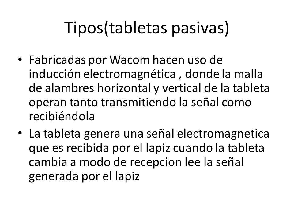 Tipos(tabletas pasivas)