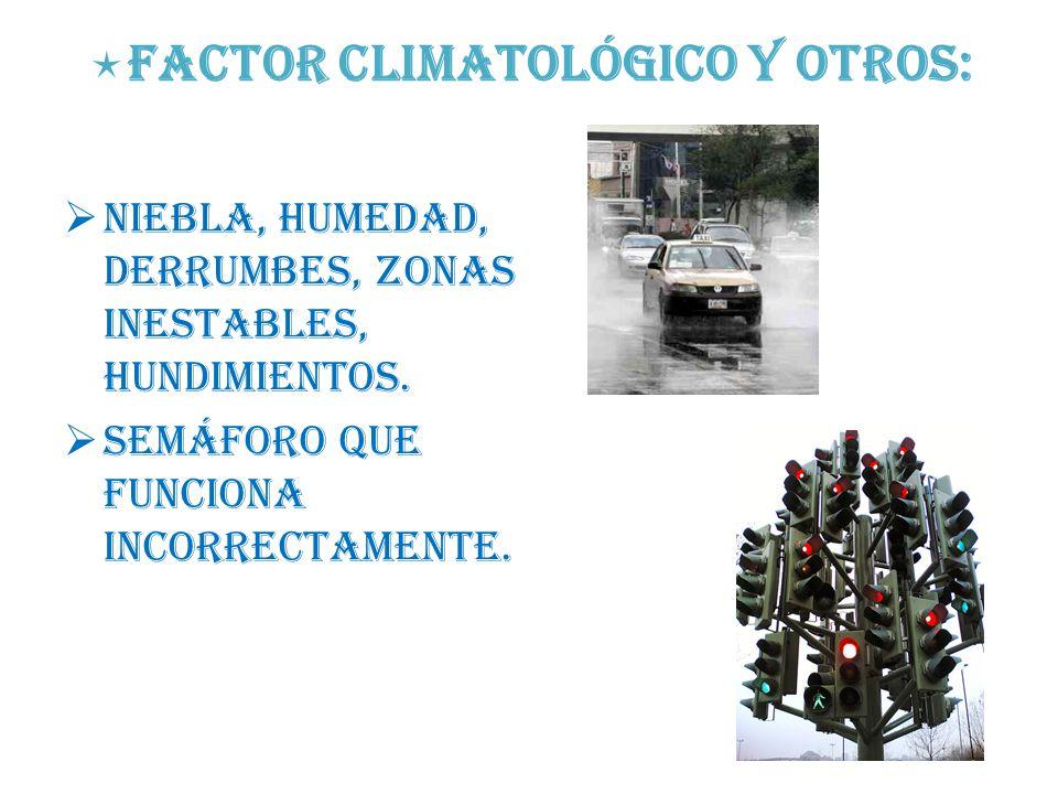 Factor climatológico y otros: