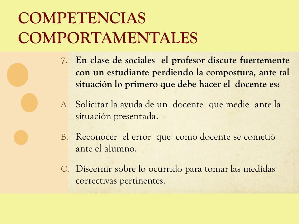 COMPETENCIAS COMPORTAMENTALES