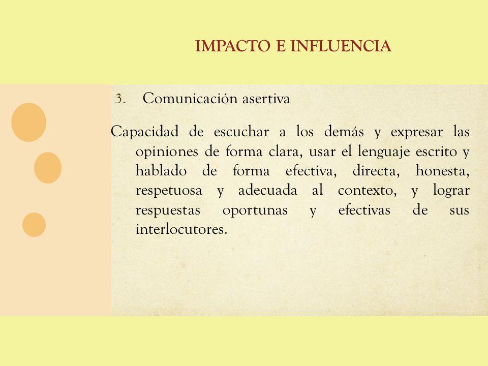 Impacto e influencia Comunicación asertiva