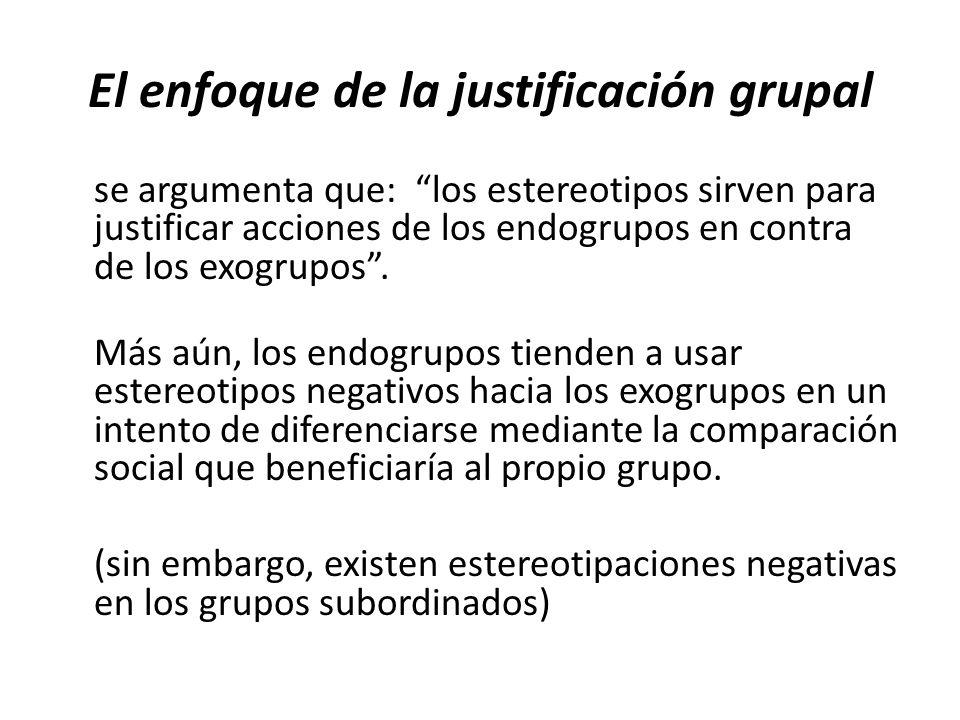 El enfoque de la justificación grupal