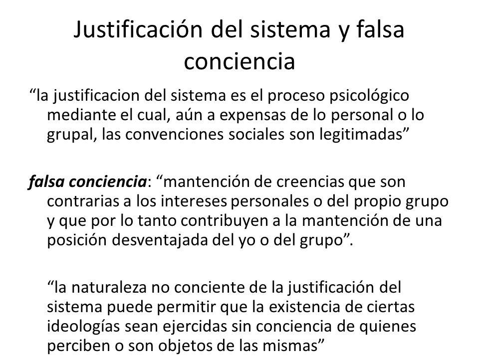 Justificación del sistema y falsa conciencia