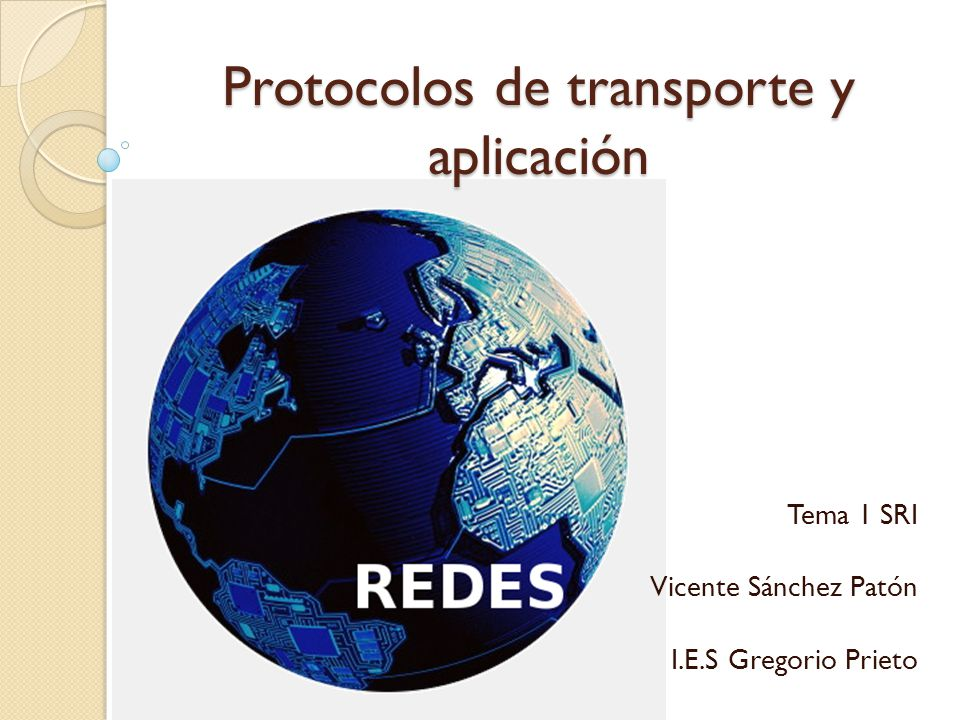 Protocolos de transporte y aplicación