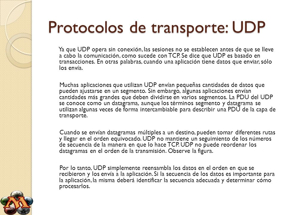 Protocolos de transporte: UDP