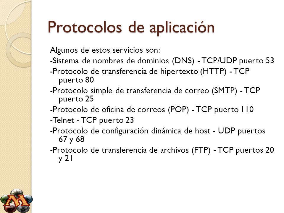 Protocolos de aplicación