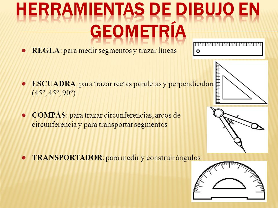 HERRAMIENTAS DE DIBUJO en geometría