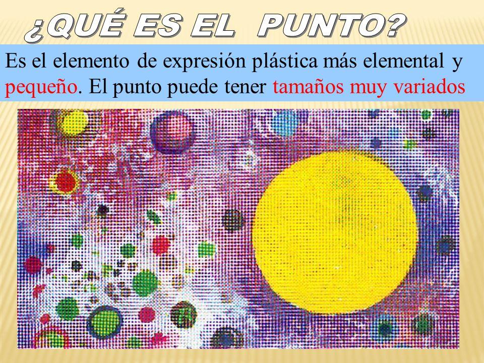 ¿QUÉ ES EL PUNTO. Es el elemento de expresión plástica más elemental y pequeño.