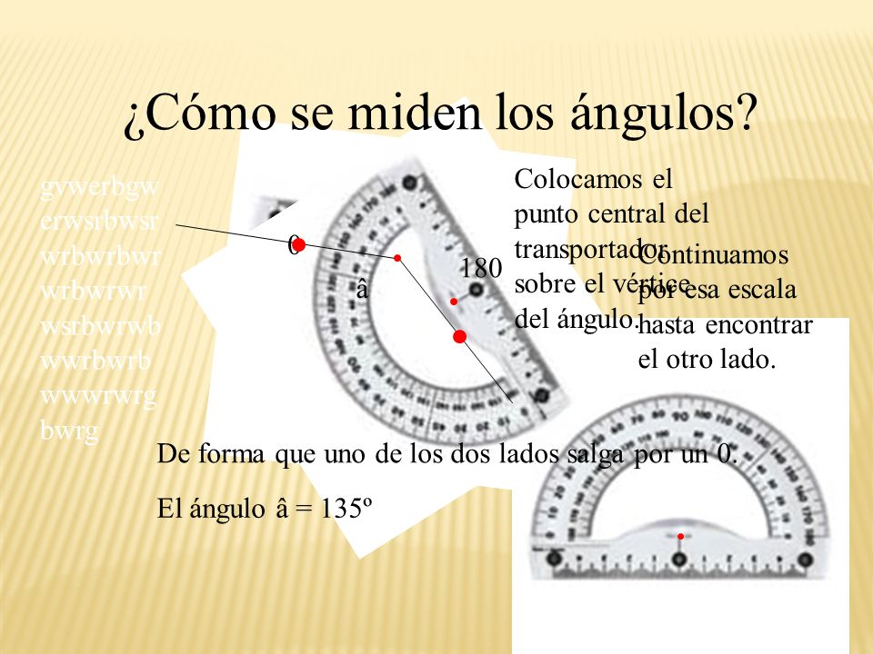 ¿Cómo se miden los ángulos