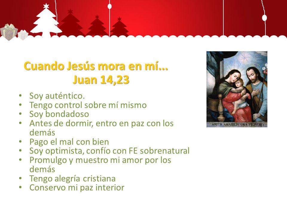 Cuando Jesús mora en mí... Juan 14,23
